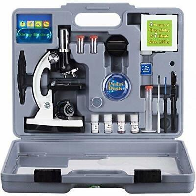 AMSCOPE 48pc Starter 120x-1200x Compound Microscope Science Kit for Kids