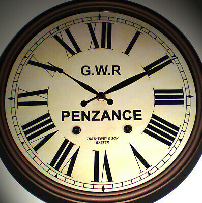 Great Western Railway GWR Victorian Style Clock, Penzance Station