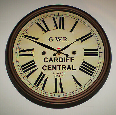 Great Western Railway GWR Victorian Style Clock, Cardiff Central Station