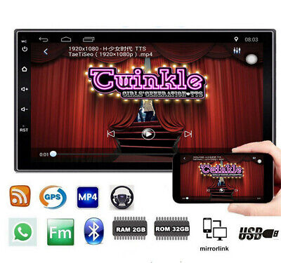 """2Din 7"""" Car Stereo Radio Head Unit Android 9.1 2+32GB GPS Navigation Mirror Link"""