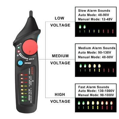 BSIDE AVD06X Dual Mode Non contact Voltage Detector AC 12-1000V Wire Check KD