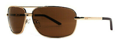 Kenneth Cole Reaction Mens Sunglasses Metal Aviator Gold, Brown  KC1076 772