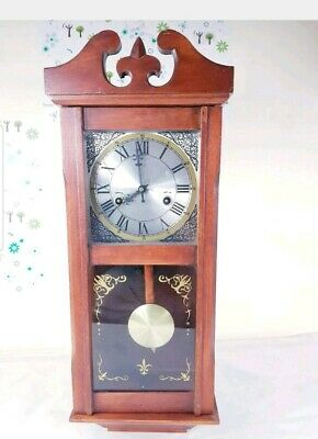 Vintage London 8 Day Mahogany Musical Westminster Chime Wall Clock