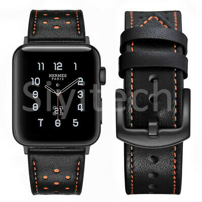 Genuine Leather iWatch Band Strap For Apple Watch 38/40/44mm 42mm Series 5 4 3