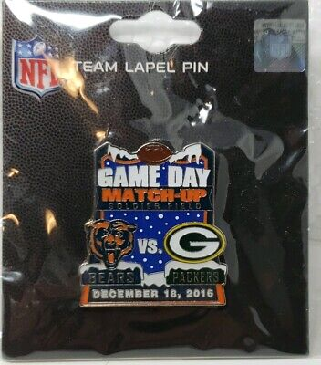 Green Bay Packers VS Chicago Bears GAME DAY PIN 12/18/16 NEW Free Shipping