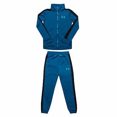Junior Boys Under Armour Ua Knit Tracksuit In Blue- Jacket:- Zip Fastening-