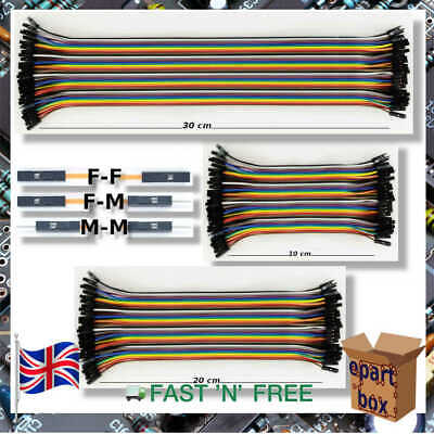 Dupont Cables 40 Pin Jumper Breadboard Wire M-M F-F F-M 10/20/30cm for Arduino