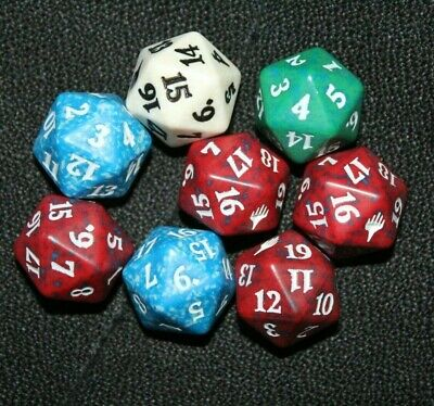 20 MTG 10X 20 Sided-Dice Spin Down Life Counter From the Vault