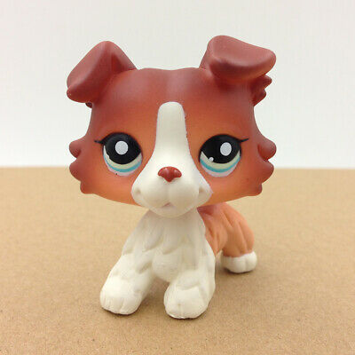 Pet Shop LPS Doll #1452 Brown Collie Dog Puppy Doll Rare Collection Toy Figure