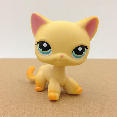 LPS #339 Pet Shop Short Hair Cat Kitty Kid Doll Collection Toy Rare Children Day