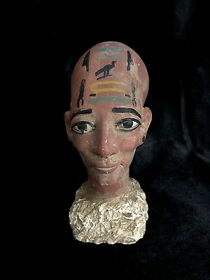 EGYPTIAN ART ANTIQUES STATUE Meritaten Akhenaten Daughter Carved Stone 1356-BCE