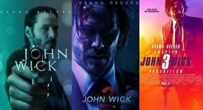 John Wick Chapters 1, 2, 3 Parabellum (4K/Blu-ray/DVD) - NEW YOU PICK USA!!!