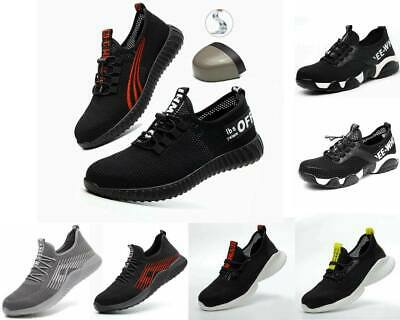 Lightweight Steel Toe Cap Safety Shoes Mens Womens Work Boots Hiking Trainers--