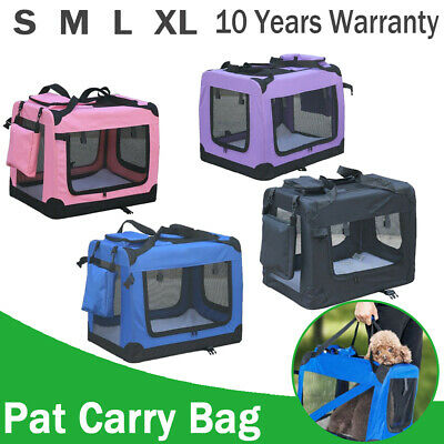 Dog Pet Cages Metal Dog Cat Puppy Training Folding Crate Animal Transport & Tray