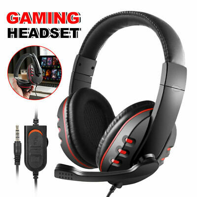 Wired Stereo Gaming Headset Headphone w/Mic USB for Sony PS4 PC Yc