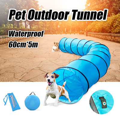 Outdoor Waterproof Pet Dog Agility Training Exercise Long Tunnel