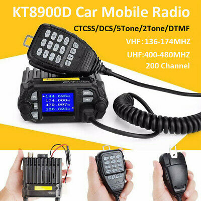 KT8900D UHF VHF Car Mobile Radio Walkie Talkie Transceiver CTCSS/DCS/DTMF 200CH