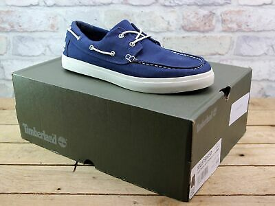 MENS TIMBERLAND UNION Wharf 2 Eye Blue Canvas Summer Deck