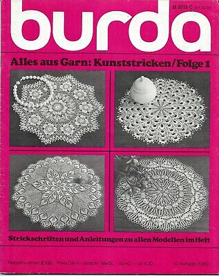 Burda E532 Kunststricken / Folge 1 - knitted tablecloths and doilies