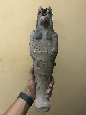 LARG EGYPTIAN EGYPT ANTIQUES ANUBIS God Mummy Deity Dog Sit STATUE STONE 3150 BC