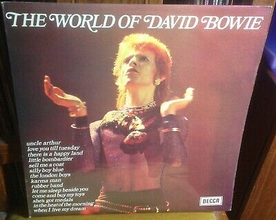 DAVID BOWIE the world of david bowie 1973 UK BLACK & WHITE LABEL EXPORT VINYL LP