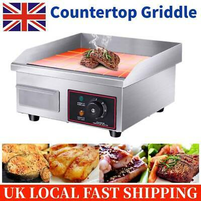 3KW Commercial Electric Griddle Hot Plate Countertop Grill BBQ Stainless Steel