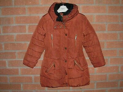 NEXT Girls Brown Winter Puffa Coat School School Jacket Age 6 116cm
