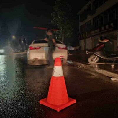 Traffic Cone Road Safety Warning Sign Reflective Tape Folding Plastic 30-65CM