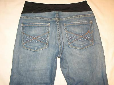 Citizens of Humanity Maternity Naomi Bootcut Jeans Sz 27 Blue Distressed Stretch