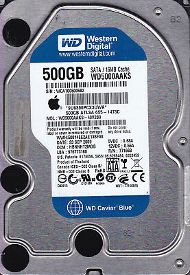 Western Digital WD5000AAKS-40V2B0 APPLE  dcm: HBNNHT2MGB 500GB 3.5 SATA B13-04