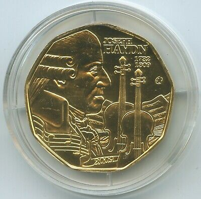 G12207 - Austria 5 Euro 2009 KM#3177 Andreas Hofer Tyrol Silver gold-plated