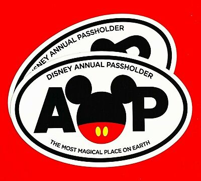 """Mickey Mouse Ears Magical Place Oval Annual Passholder Car Magnet 5.15"""" x 3.2"""""""