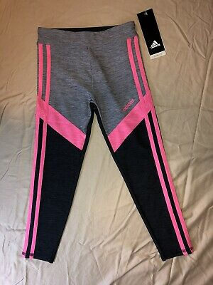 Girls Adidas Colorblock Leggings Size 6