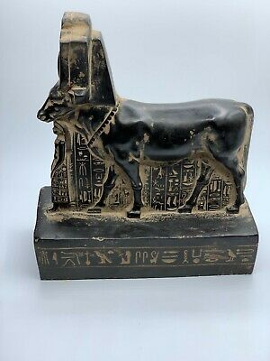 RARE EGYPTIAN ANCIENT EGYPT ANTIQUITIES Hathor as Cow Gods Psamtik STONE BC
