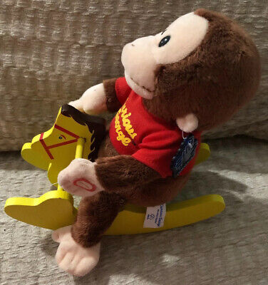 Curious George Riding A Rocking Horse - All Original Tags Intact