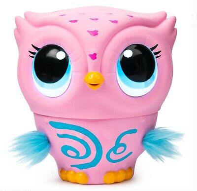 Flying Baby Owl Interactive Toy for Kids  with Lights and Sounds Owleez, (Pink)