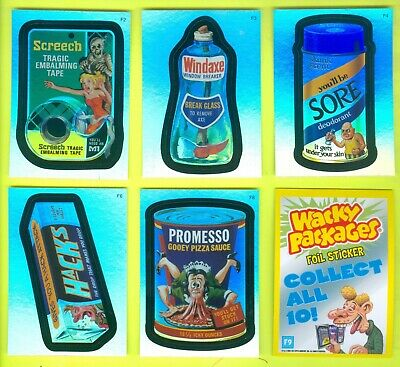 6 of 10 2007 Topps WACKY PACKAGES All-New Series 5 FOILS