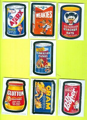 Lot of 7 ALL DIFFERENT 2004 Topps WACKY PACKAGES All-New Series 2 MAGNETS