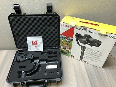 Mint Complete Zhiyun Crane V2 Handheld 3-Axis Gimbal Stabilizer Camber Dslr