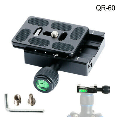 Metal QR60 Camera Quick Release Plate Clamp + PU60 Plate For Arca Swiss Tripod