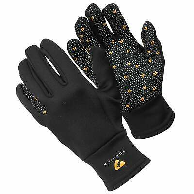 Shires Aubrion Patterson Winter Womens Gloves Everyday Riding Glove - Black