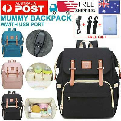 2019 Luxury Large Mummy Maternity Nappy Diaper Bag Baby Bag Travel Backpack
