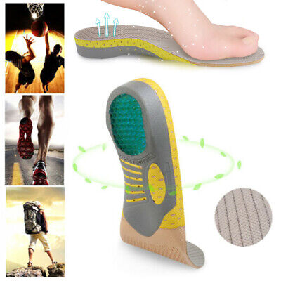 Orthotic Shoe Insoles Inserts Flat Feet High Arch Support Fit Plantar Fasciitis