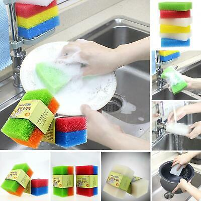 Durable Dish Washing Brush Two Sides Cleaning Sponge Kitchen Ware Cleaning Tool