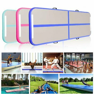 3/4*1M Inflatable Air Track Tumbling Gymnastic Mat Floor Home Training w/ Pump Y
