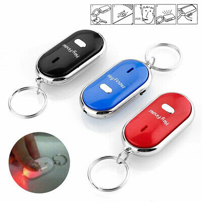 3x Whistle Lost Key Finder Flashing Beeping Locator Remote chain LED Sonic torch