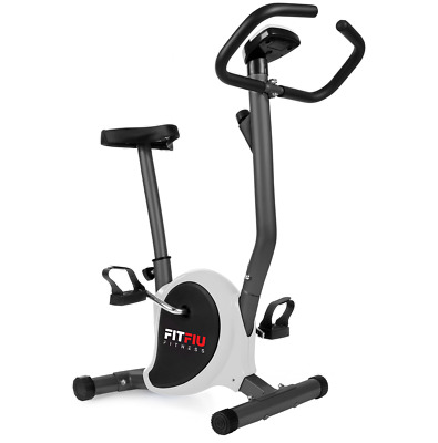 Bicicleta estatica FITFIU ultracompacta regulable 8 niveles y pantalla LCD gris