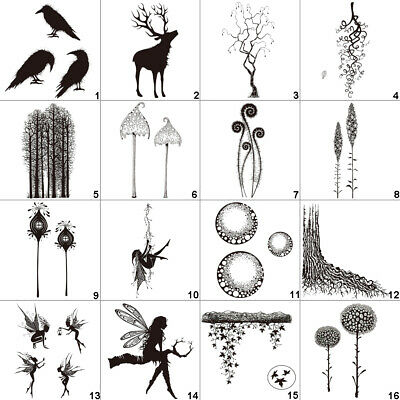 Fairy Girl Transparent Silicone Clear Stamps DIY Art Tree Forest Mushroom Leaf