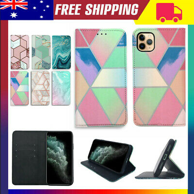 Geometric Wallet Card Wallet Case Flip Cover For Apple iPhone 11 Pro Max XR XS 8