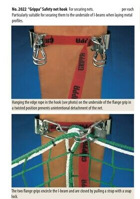 grippa safety netting clamps